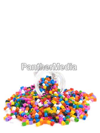 multicoloured beads