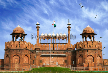 red fort in old delhi india