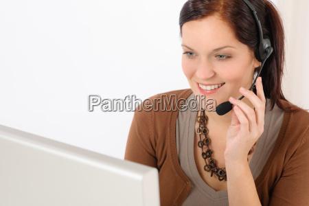 professional call center representative woman