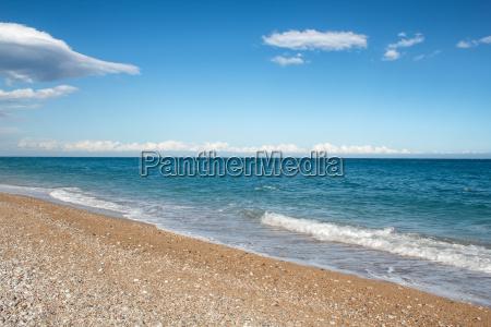 beach at the mediterranean sea
