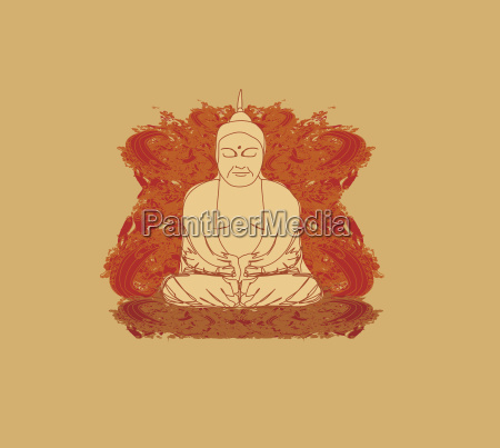 vector of chinese traditional artistic buddhism