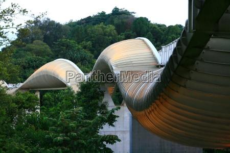henderson wave bridge modern pedestrian bridge