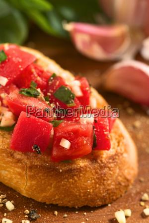 bruschetta with tomatogarlic and basil