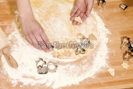 baking at christmas cookies