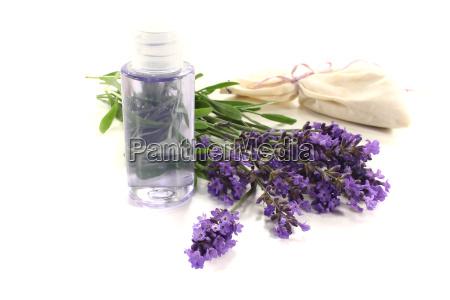 lavender oil with lavender bag