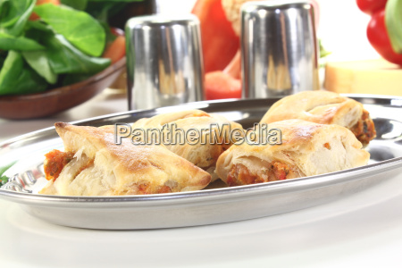 puff pastry with peppers and cheese