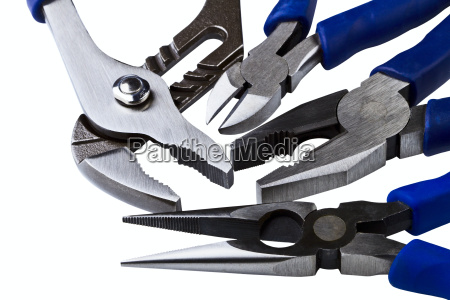 wire cutting and flat nose pliers