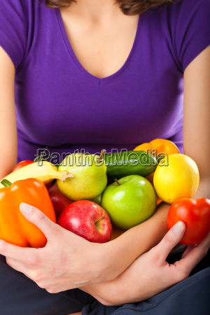 healthy diet young woman with