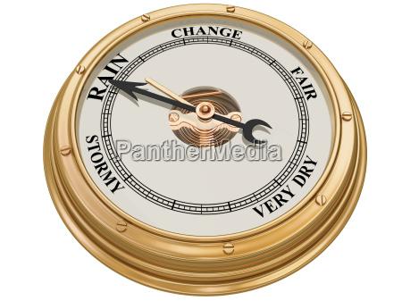 barometer indicating rain