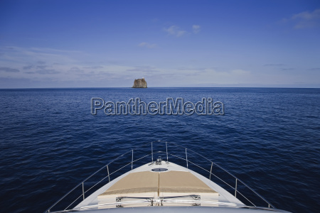 italy sicily stromboli island strombolicchio rock