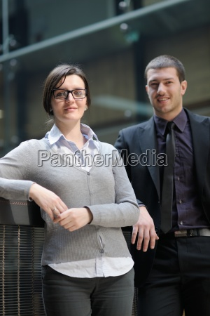 business woman and business man