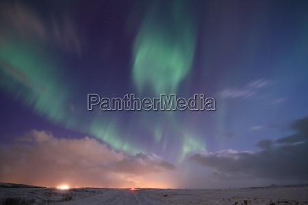 northern light on iceland