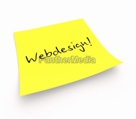 stickies webdesign