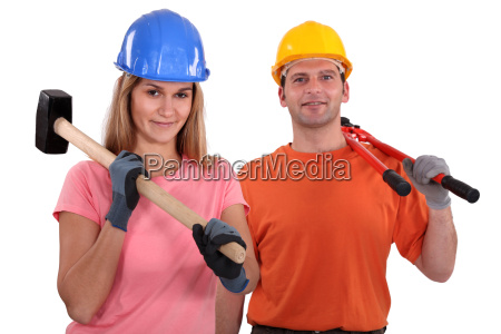 a couple of manual worker