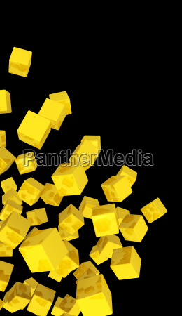 banner flying dice gold yellow
