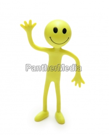figure of smiley isolated on white