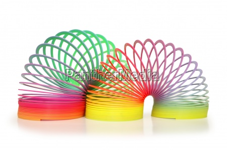 colourful springs isolated on white
