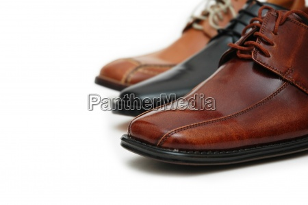 selection of male shoes isolated on
