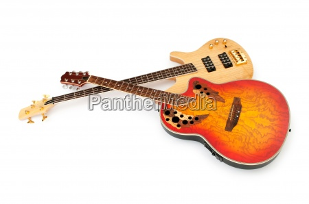 musical guitar isolated on the white