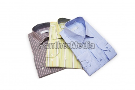 striped shirts isolated on the white