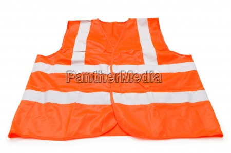 orange vest isolated on the white