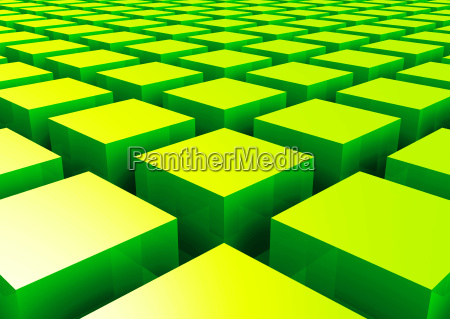 3d structure green square 2