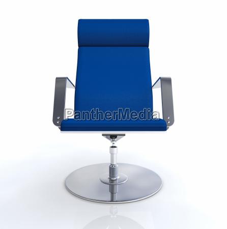 designer chefs chair blue silver