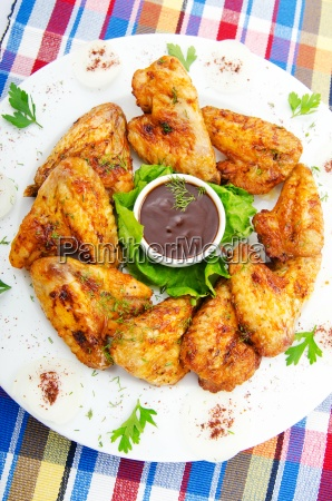 chicken wings in the plate