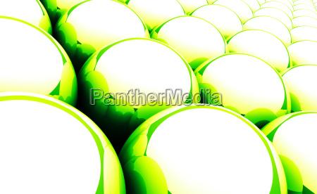 green reflection balls background 05