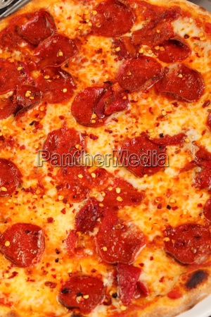 italian pizza with hot chilli and