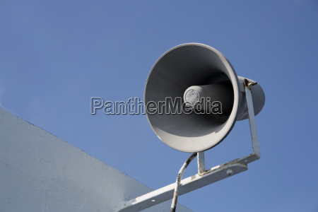 isolated megaphone making loud noise at