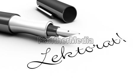 proofreading pen concept