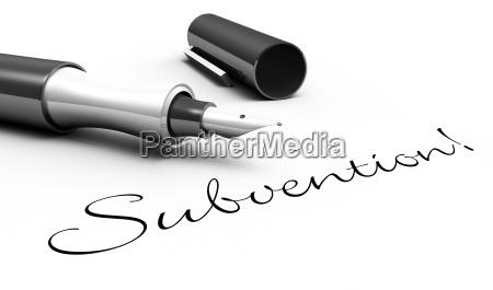 subsidy pen concept