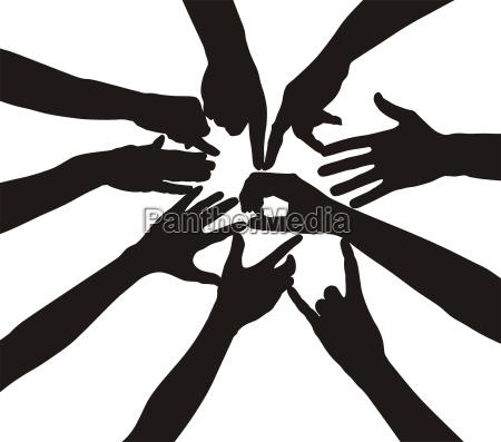 teamwork by hand