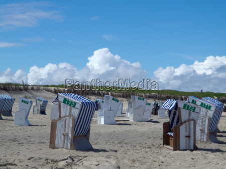 on the beach of norderney