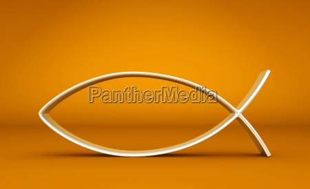 3d ichthys silver on orange 02