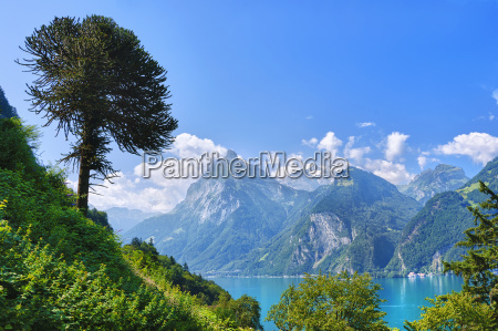 the arve above lake uri