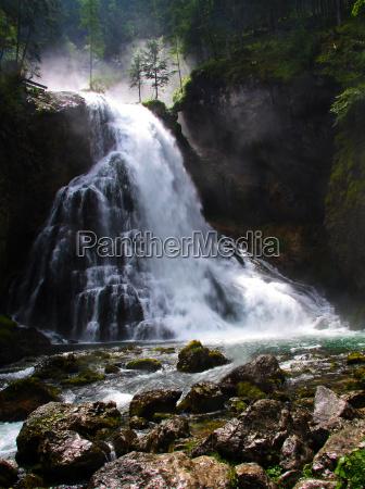 tree trees flow stream waterfall ceramic