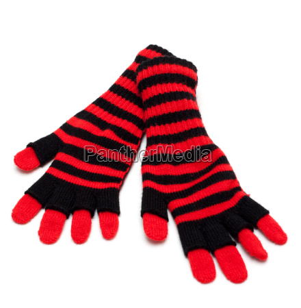 striped red pair of the gloves