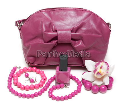 violet feminine bag necklace