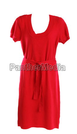 red feminine knitted gown