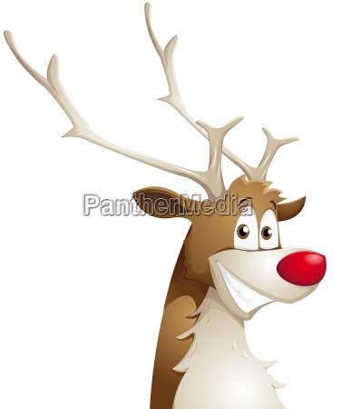 grinning reindeer