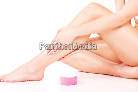 legs cosmetic treatment isolate on white