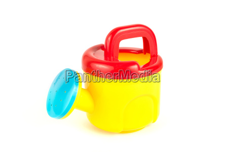red and yellow plastic toy watering