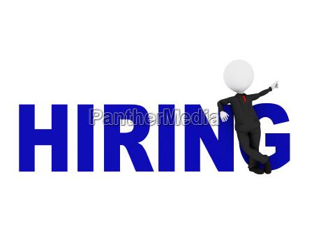 hiring 3d concept depicting businessman