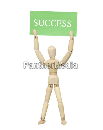 doll with success sign