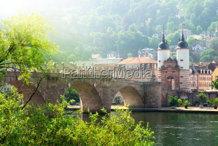heidelberg tyskland den gamle bro i