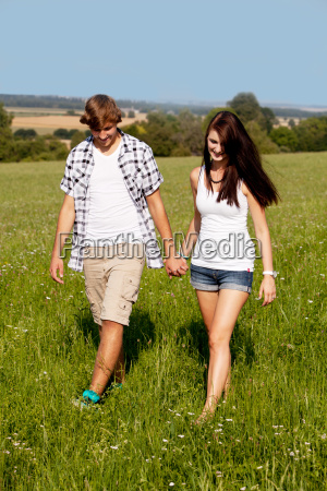 young loving couple happy in a