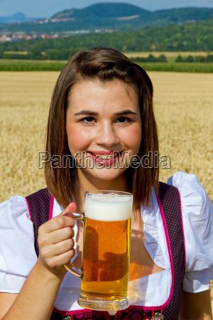 fresh beer in nature