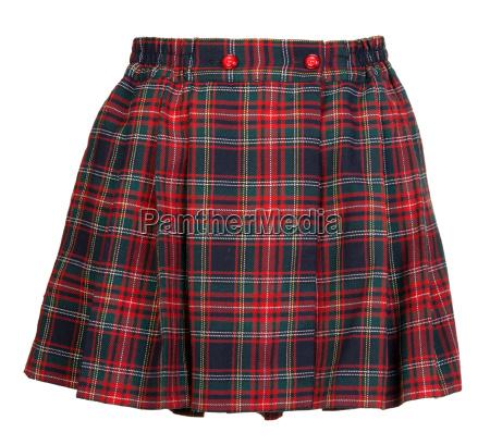 plaid red feminine skirt